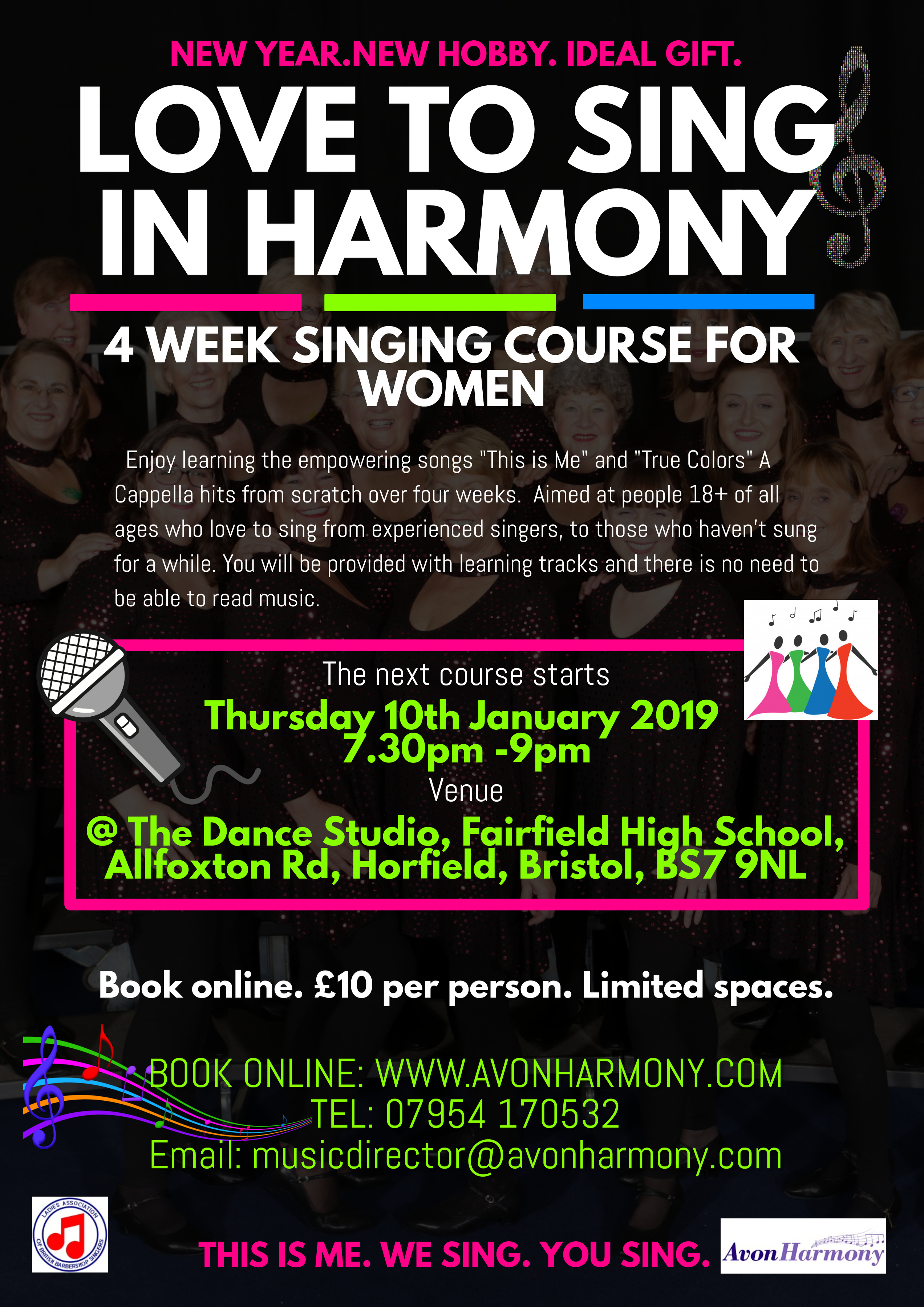 Love To Sing In Harmony Four Week Course