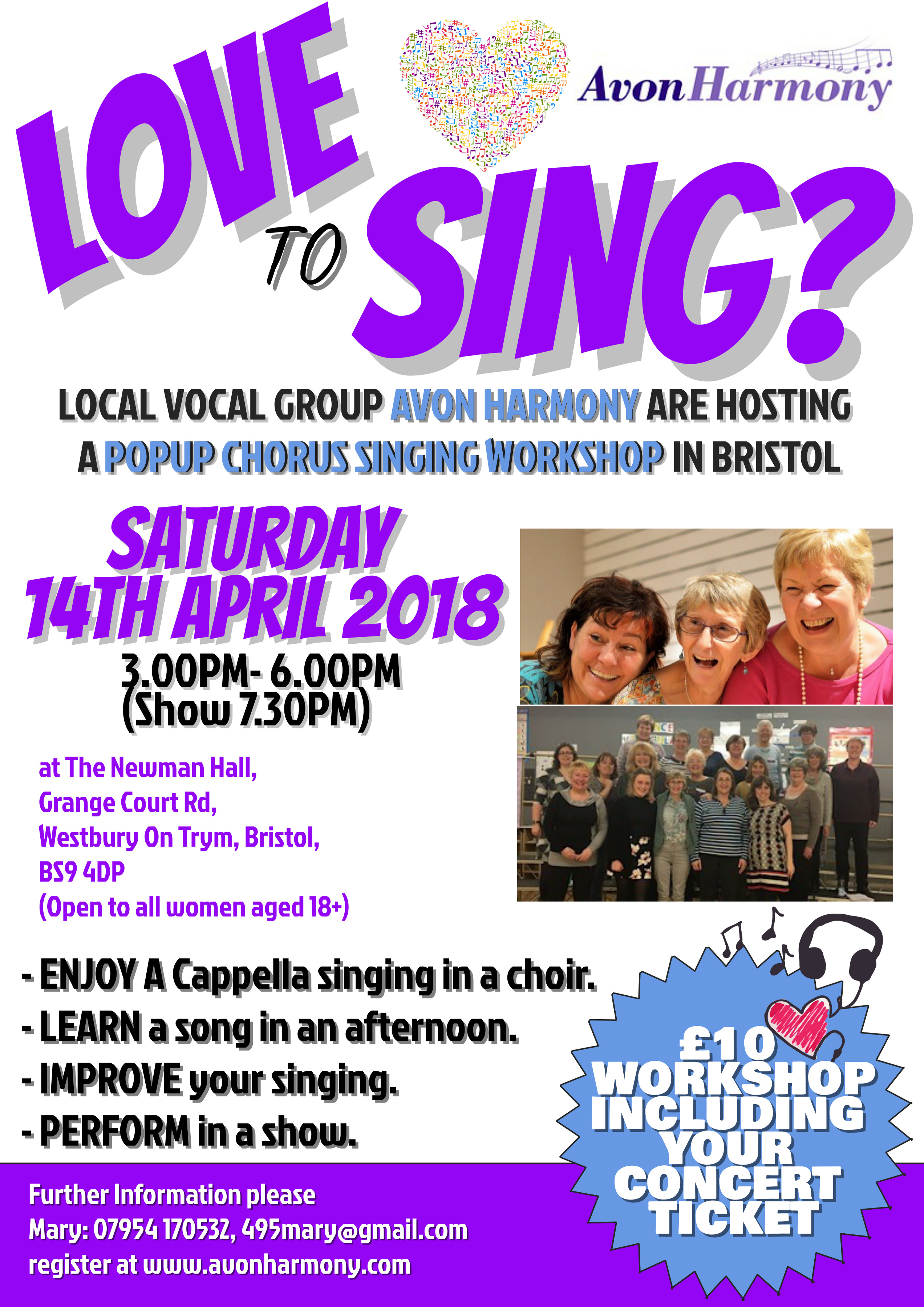 Avon Harmony Love to Sing Pop Up Chorus (Afternoon)