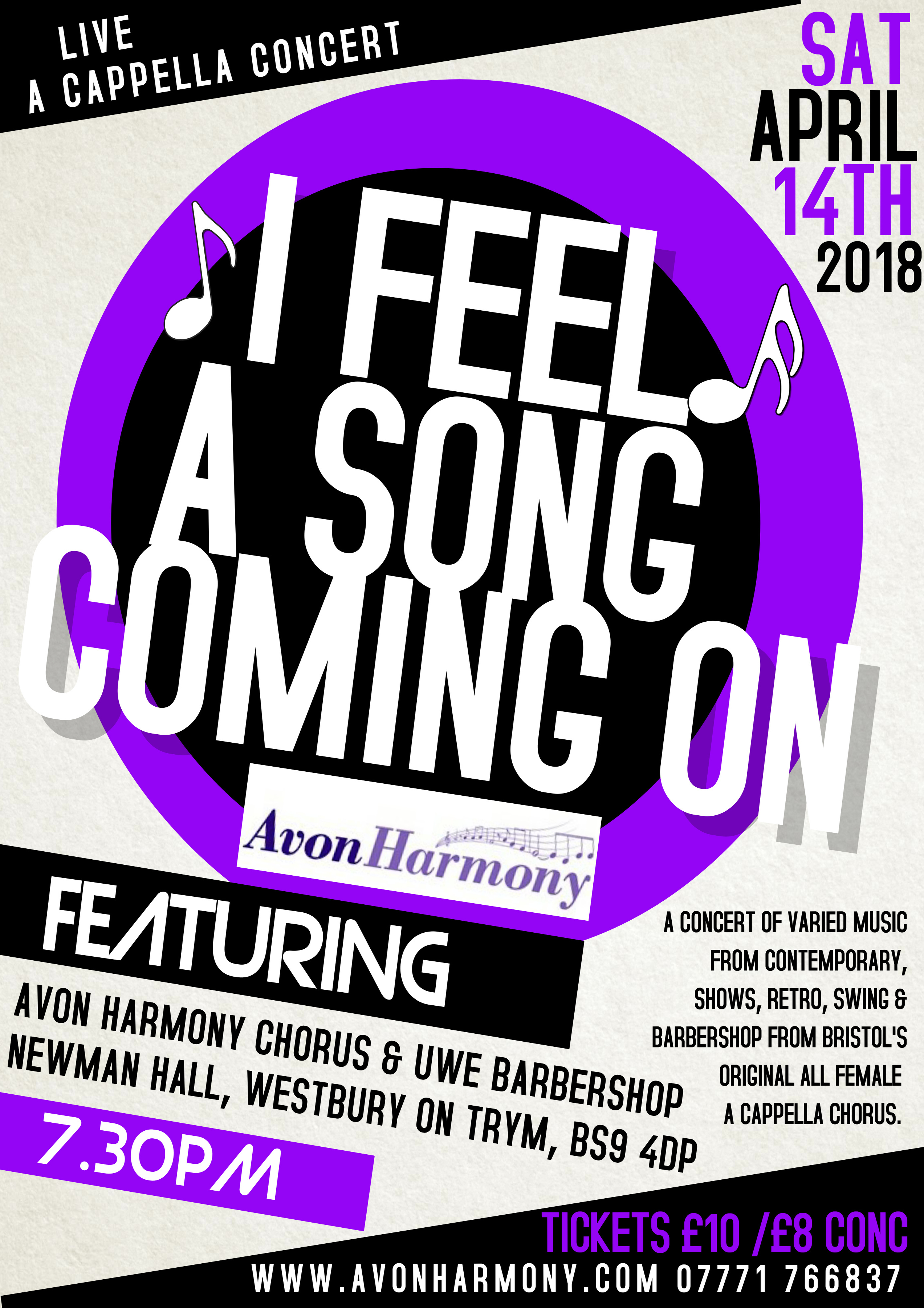"Avon Harmony Chorus ""I Feel A Song Coming On"" 2018 Concert."