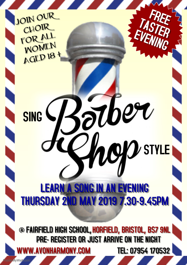 Sing Barbershop Style- Song In A Night Taster Session